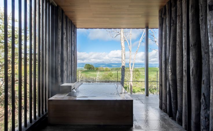 WALLPAPER* online (2015 December):  Set amongst the leafy canopy of a peaceful forest, against the serene backdrop of Hokkaido's pristine landscape, Zaborin is the area's newest retreat, just a short drive south from the city of Sapporo. Comprising just 15 villas – all of which overlook ...