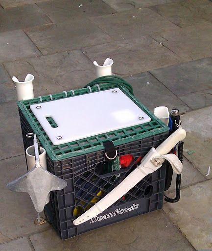 Homemade Kayak Rudder Mount - Cutting Board Crate Fancy