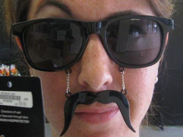 Mustache glasses!