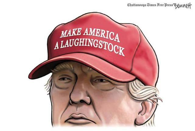 Best Donald Trump Cartoons of 2016: Donald Trump Laughingstock