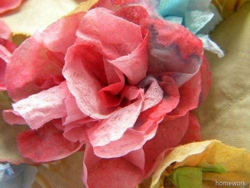 spring paper flowers: Paper Napkins, Spring Flowers, Watercolor, Homework, Flower Crafts, Paper Flowers, Napkin Flowers, Spring Crafts, Paper Flower Centerpieces