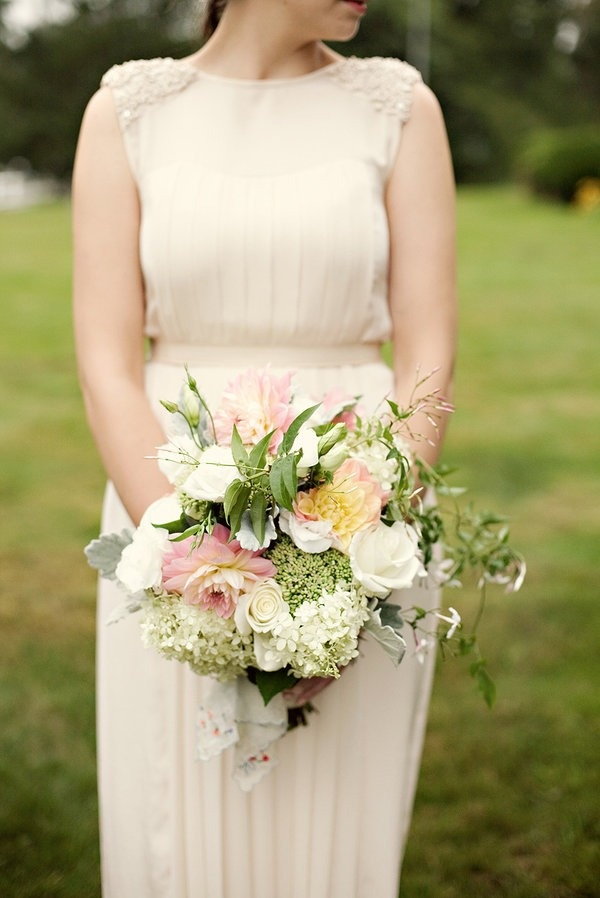 bouquet. This photo inspires a room, soft flowing light fabrics, with soothing green tones and speckles of soft yellows and pinks. Throw in some shimmering crystals and an oasis is born!
