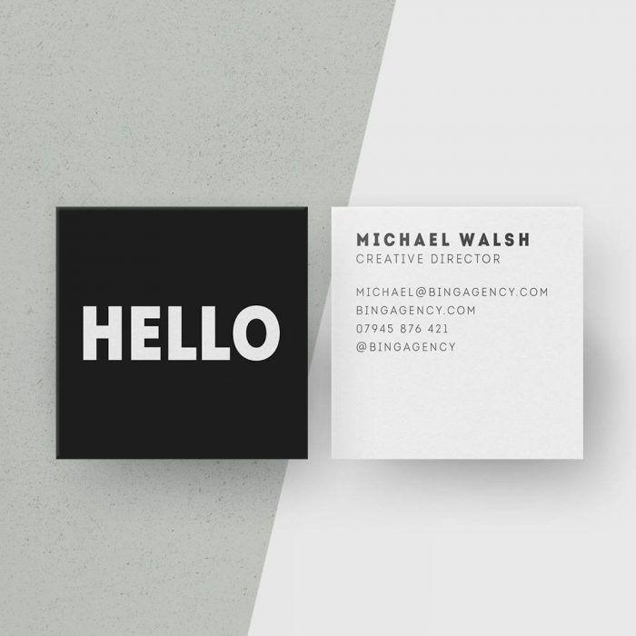 Simple Sleek Business Card Junebug Weddings Square Business Cards Personal Cards Design Business Card Inspiration