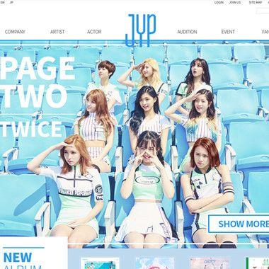 Web Redesign _ JYP Entertainment