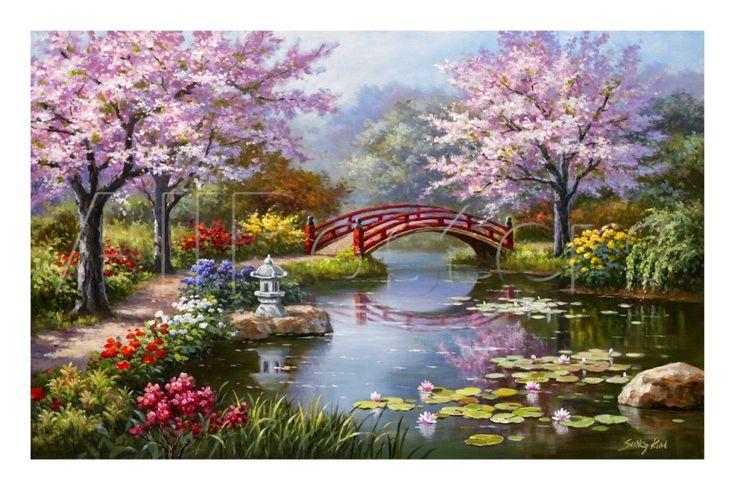 Sung Kim - Çiçek Açan Japon Bahçesi - Sanatsal Reprodüksiyonlar - AllPosters.com.tr'de.