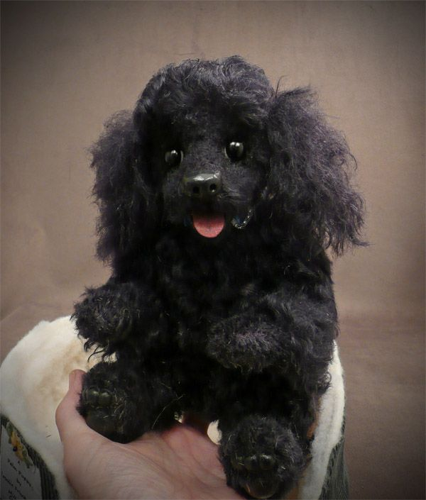 My creation, black mohair poodle.