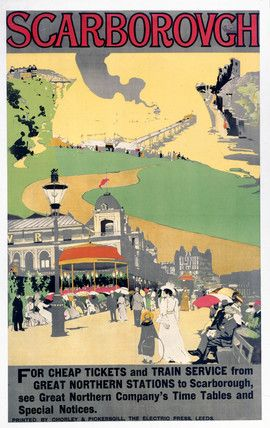 Scarborough, North Yorkshire Railway Poster  #RePin by AT Social Media Marketing - Pinterest Marketing Specialists ATSocialMedia.co.uk