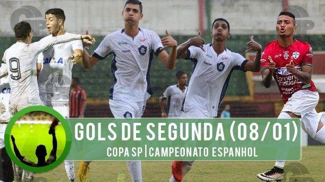 Gols desta Segunda Feira 08/01 | Copa São Paulo, Campeonato Espanhol