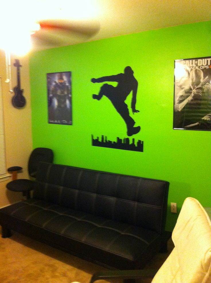 Tween Boys Bedroom Xbox Theme In 2019 Boys Game Room