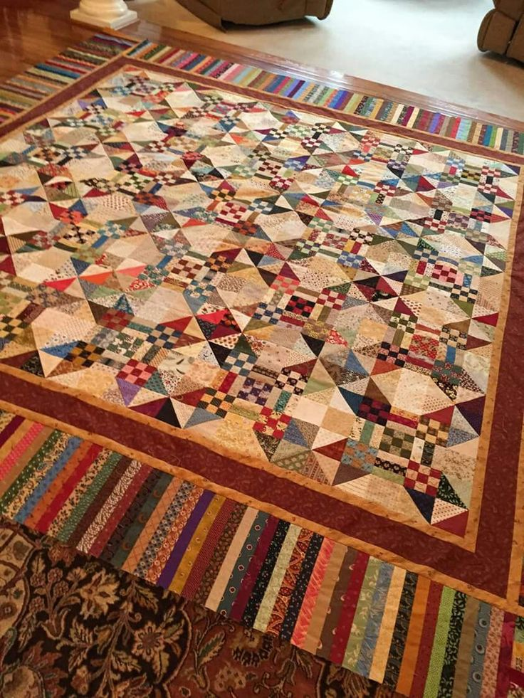 Love the blocks and the border-- also that it's scrappy!