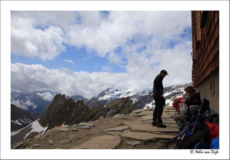 Uitzicht Defreggerhaus. Nationaal park Hohe Tauern, Ost Tirol, Osstenrijk
