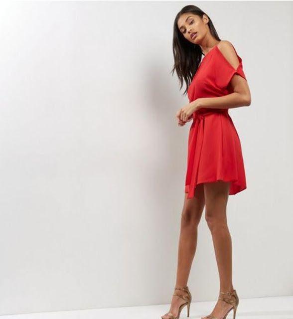 صور فساتين سهرة قصيرة للمناسبات بلون الأحمر جميلة جدا Fashion