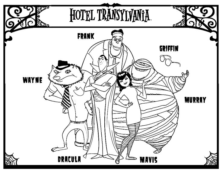 coloring pages hotel - photo#36
