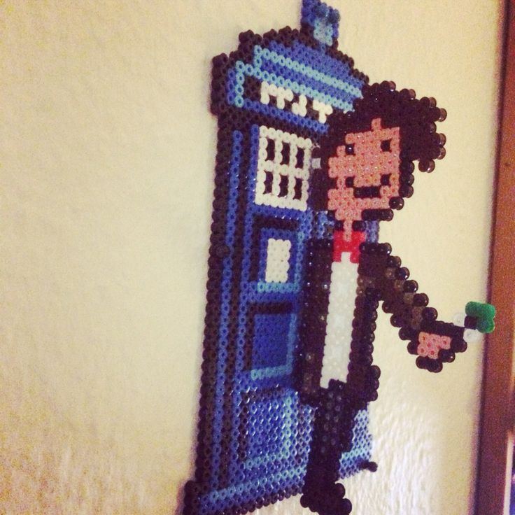 Hamabeads Dr. Who and Tardis.