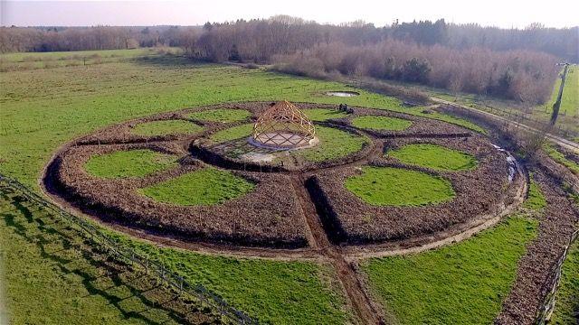 Projet de jardin mandala et zome la ferme du bouchot for Jardin mandala
