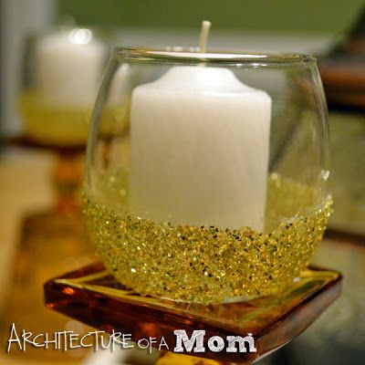 How to make Glitter Candle Holders