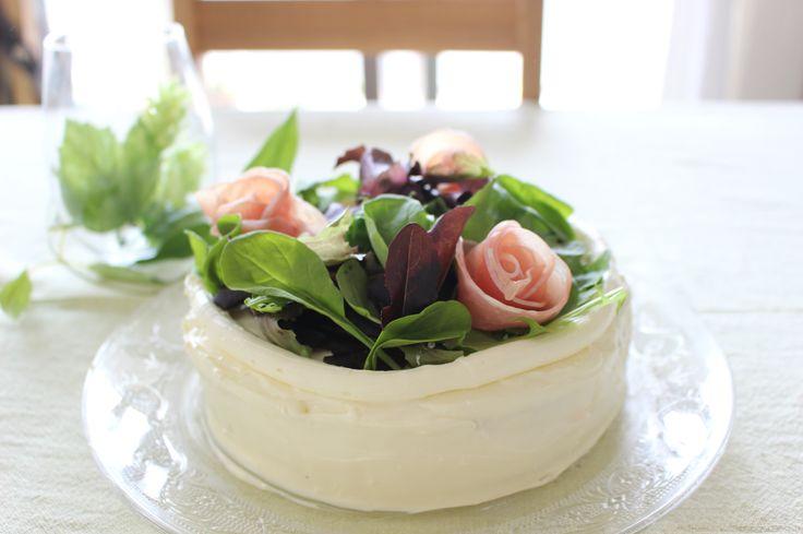 ハムサラダのケーキイッチ♪