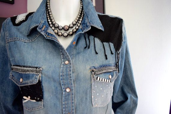 Redesigned ladies denim shirt
