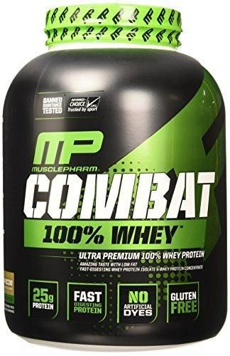 Muscle Pharm Combat 100% Whey Protein Powder Cappuccino 5 Pound