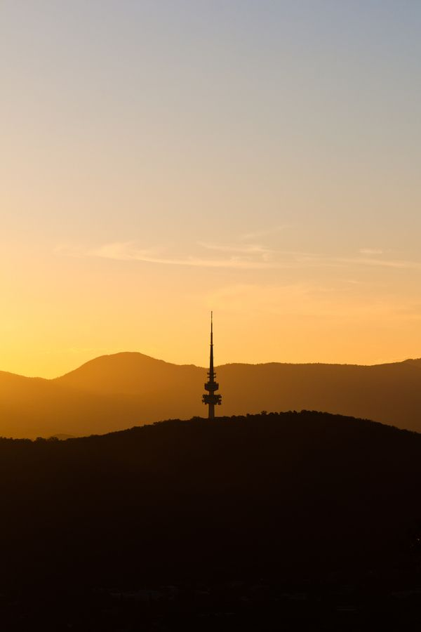 Black Mountain Tower at sunset - Canberra - Australia