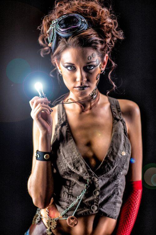 Dave Kelley photography women female models fashion Katrina steampunk