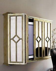 Flat-Screen TV Entertainment Wall Cabinet I want this soooooo bad!