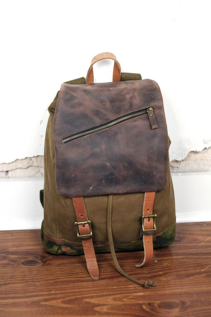 Leather & Canvas Rucksack