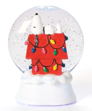 Love this! Snoopy's Christmas Doghouse Glitter Dome by Roman, Inc. #zulily