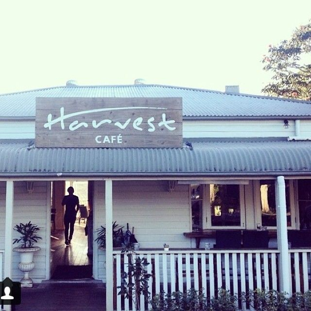 """The wonderful Harvest Cafe in the village of Newrybar - a 'must' for visitors to Byron Plantation! They have a deli and bakery too - plus farm-fresh delicacies, the best local cuisine and a fully-stocked bar. Some of the folks in Newrybar refer to it as """"the office"""". Never a hard day at this office though!"""