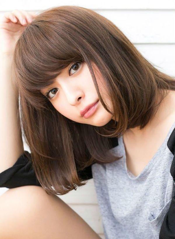 Hairstyles Ideas:Korean Medium Hairstyles For Round Faces Ideas Korean Hairstyles Trend for ...