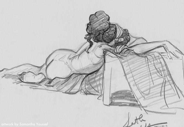 life drawing by Samantha Youssef