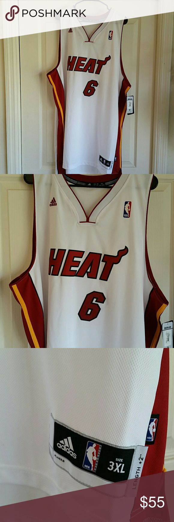 LEBRON JAMES MIAMI HEAT SWINGMAN JERSEY RARE SIZE 3XL BRAND NEW WITH TAGS NICKNAME JERSEY THESE WERE WORN FOR 1 GAME, HARD TO FIND adidas Shirts