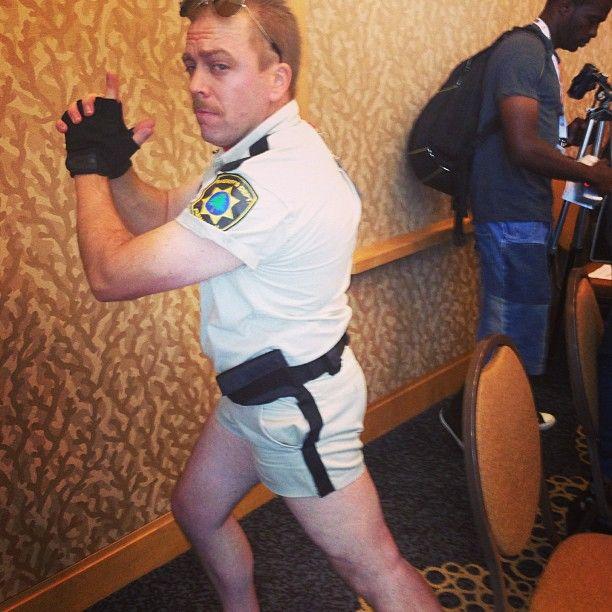 OFFICER DANGLE!!!! #sdcc #clevvertv