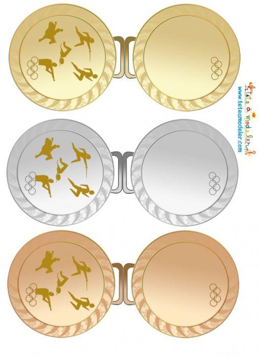 coloriage Les trois Médailles olymiques à imprimer Plus