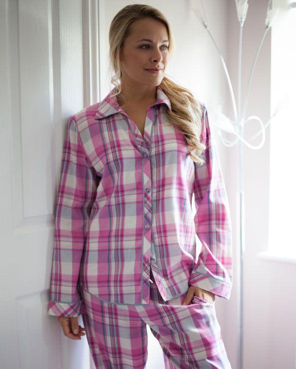 Isabel Lightly Brushed Check Pyjamas