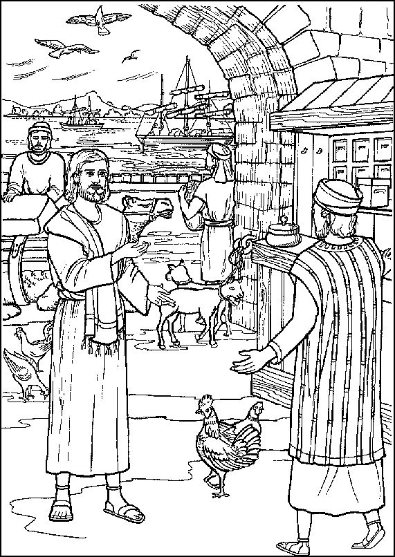 coloring pages about acts 8 - photo#26