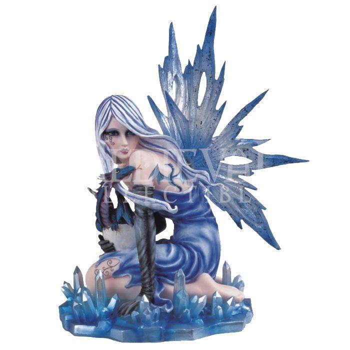 Dragon And Fairy Figurines Ice Dragon Fairy Statue 05