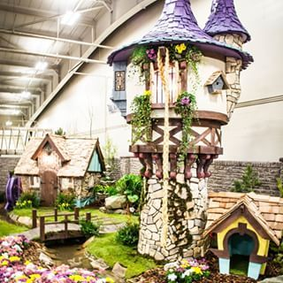 This Rapunzel-themed playhouse is one of the first really fancy ones Leavitt made. It even comes with a blonde braid. | A Canadian Dad Builds The World's Most Incredible Kids Playhouses