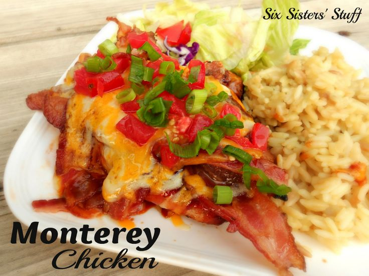 Six Sisters' Stuff: Monterey Chicken.  I almost always have these items on hand.  YUM!  can't wait to try.