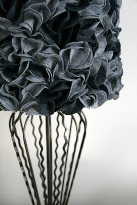 SwingNCocoa: Felt Lampshade DIY This is exactly what I have been looking for!! looks like work but worth it!