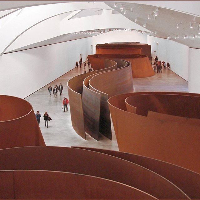 The Matter of Time by Richard Serra, 1997 #sculpture #art #richardserra #rust #minimalism #spain #museoguggenheim #wantinspired