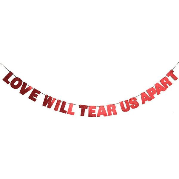 Love Will Tear Us Apart Glitter Banner Wall Decoration Garland Sparkly 26 Red Home Decorhandmade