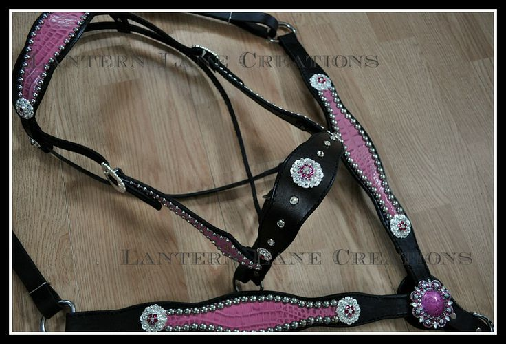 Custom Made Side Pull Headstall With Matching Breast