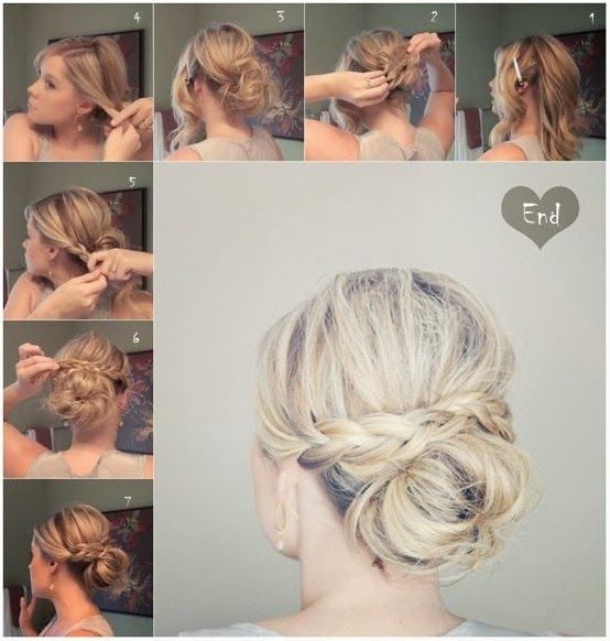 Messy-Braid-Bun-for-Medium-Hair-Updos-Tutorials.jpg (554×582)