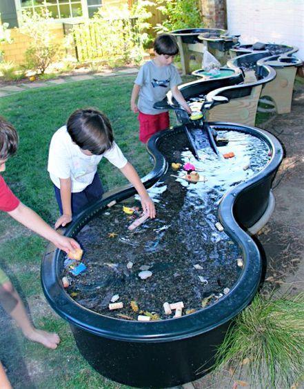 Wasseranlage aus Gartenteich-Elementen