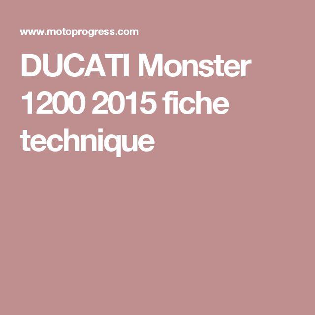 DUCATI Monster 1200 2015 fiche technique