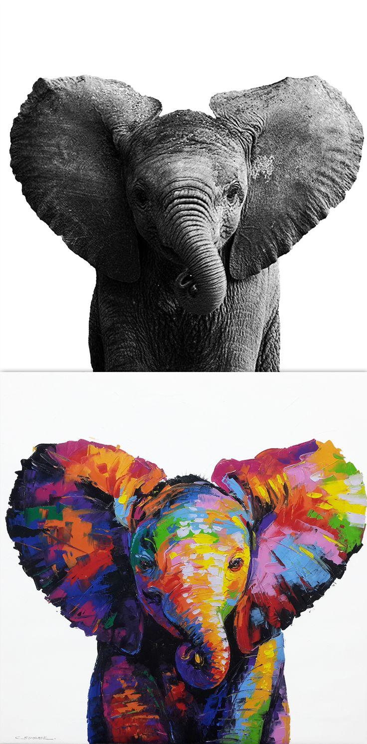 the 25 best colorful elephant ideas on pinterest elephant art