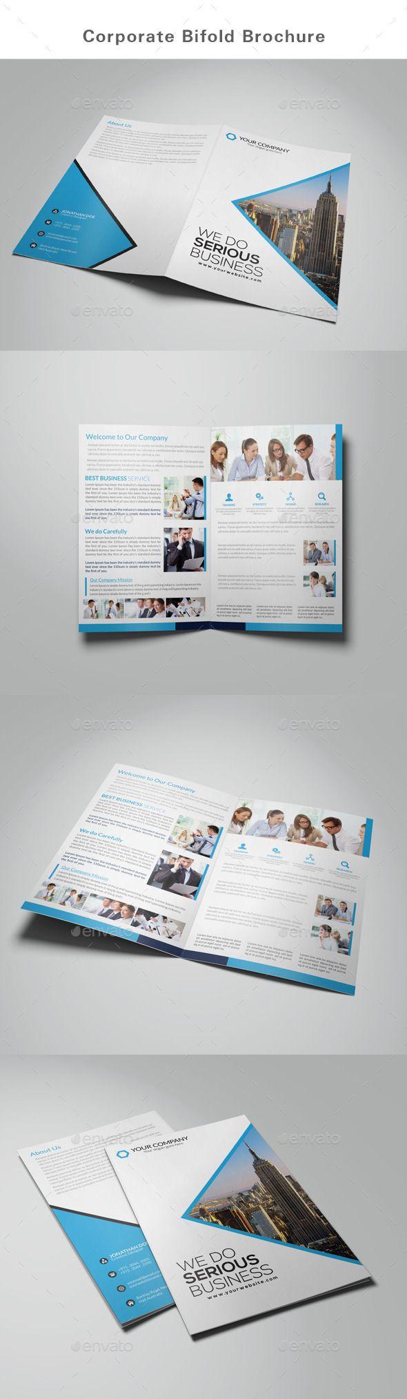 Business Bifold Brochure Template #design Download: http://graphicriver.net/item/bifold-brochure-business/12761014?ref=ksioks