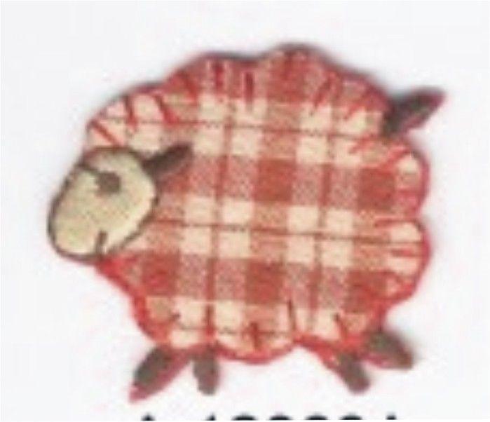 Rojo A Cuadros Granja país Cordero Oveja Bordado Parche De Adorno | Artesanías, Costura, Adornos y acabados | eBay!