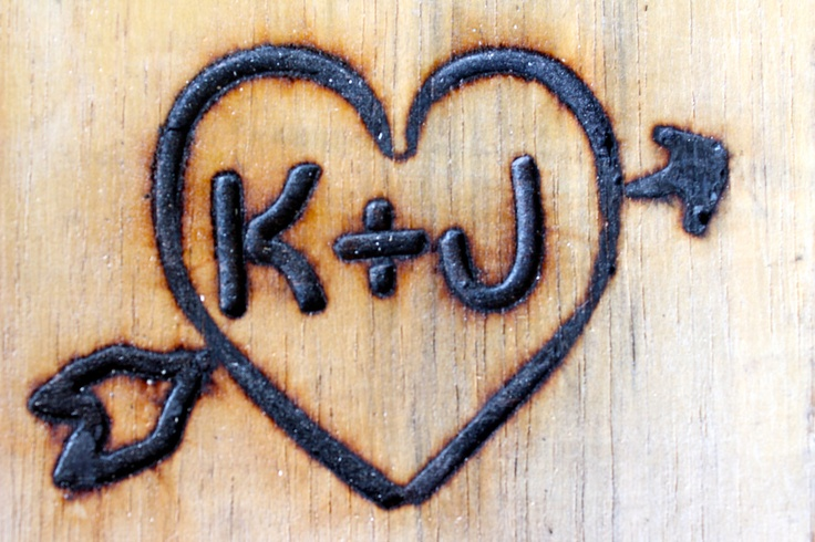 Branding Iron, Custom Wedding Heart with Arrow and Initials.